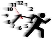 8661316-persoon-symbool-in-een-rush-loopt-tegen-een-klok-in-een-race-met-tijd